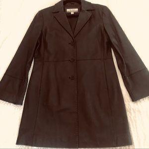 Nine and Company Leather Coat